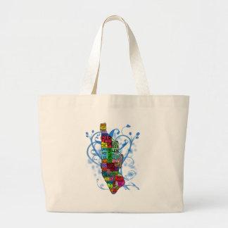 Color Coded Manhattan Map Jumbo Tote Bag