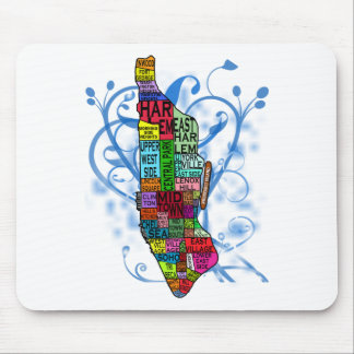 Color Coded Manhattan Map Mouse Pad