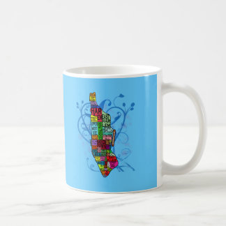 Color Coded Manhattan Map Classic White Coffee Mug