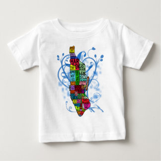 Color Coded Manhattan Map T Shirt