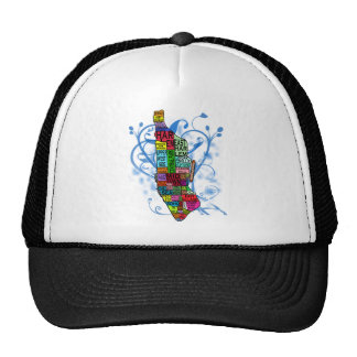 Color Coded Manhattan Map Trucker Hat