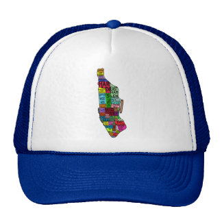 Color Coded Manhattan NYC Tshirts, Hoodies Trucker Hat