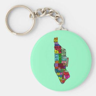 Color Coded Manhattan NYC Tshirts, Hoodies Basic Round Button Keychain