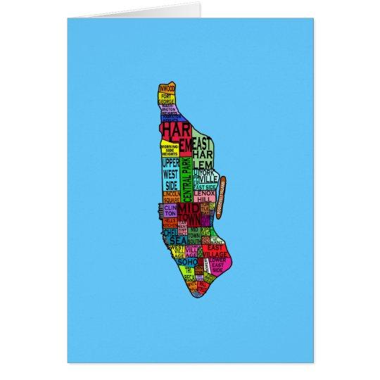 Color Coded Manhattan NYC Tshirts, Hoodies Card