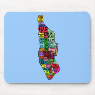 Color Coded Manhattan NYC Tshirts, Hoodies Mouse Pad