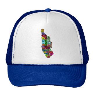 Color Coded Manhattan NYC Tshirts, Hoodies Trucker Hat