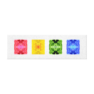 Color Collage Stretched Canvas Prints