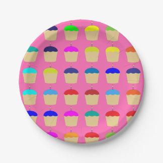 Color colorido del personalizado del rosa de la platos de papel