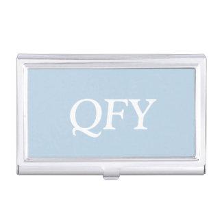 Color complementario elegante de los azules cielos caja de tarjetas de negocios