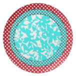 Color Compliments - Red and Turquoise Dinner Plate