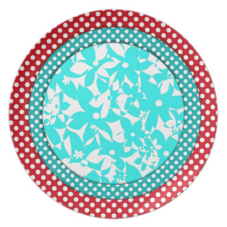 Color Compliments - Red and Turquoise Plate