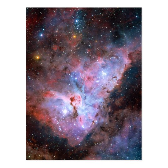 Color Composite Image of the Carina Nebula Postcard