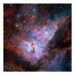 Color Composite Image of the Carina Nebula Print