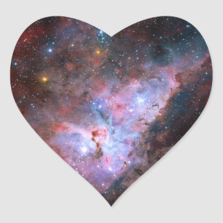 Color Composite Image of the Carina Nebula Heart Sticker