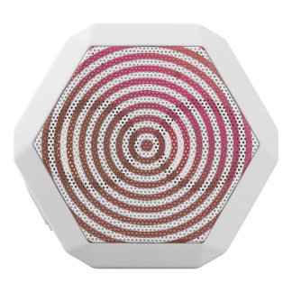 Color concentric circles white boombot rex bluetooth speaker