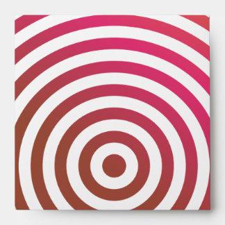 Color concentric circles envelope