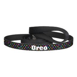 Color confetti polka dots dog leash