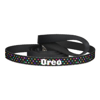Color confetti polka dots dog leash
