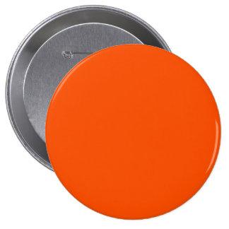 Color contemporáneo del Tangelo solo Pin Redondo 10 Cm