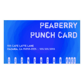 Color Contrast Crazy Coffee Vortex Punchcard Double-Sided Standard Business Cards (Pack Of 100)