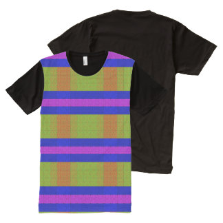 Color Contrast Depth Vision All-Over Print T-shirt