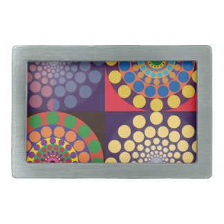 Color Contrasts in Circles Belt Buckle
