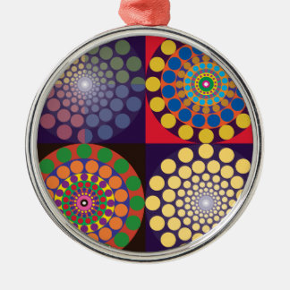 Color Contrasts in Circles Metal Ornament