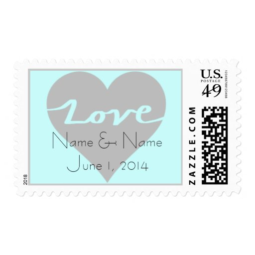 Color Coordinated Love Stamp