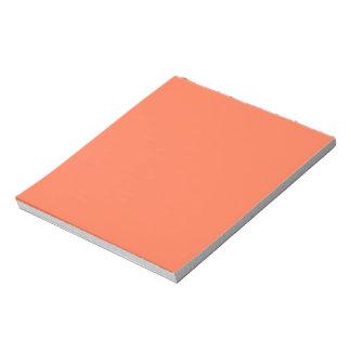 Color coralino de color salmón listo para bloc de notas