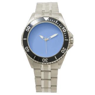 color cornflower blue wristwatch