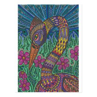 Color Crane Postcard