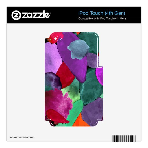 Color crash decal for iPod touch 4G