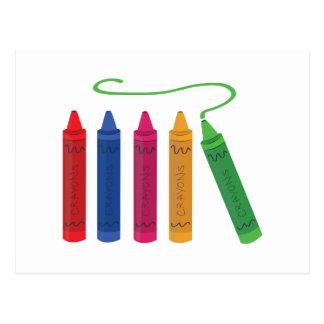 Color Crayons Postcard