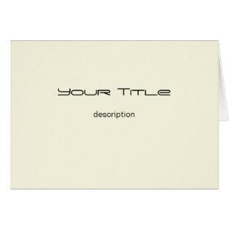 Color crema/tarjeta de felicitación de papel básic