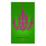 Color cristalino de las rosas fuertes chandelier/D Tarjetas Personales