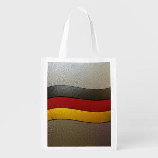 Color-Cromo de la bandera de Alemania Bolsas Reutilizables