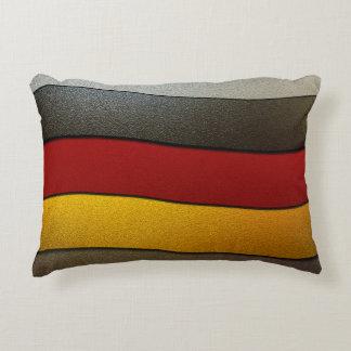 Color-Cromo de la bandera de Alemania Cojín Decorativo