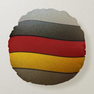 Color-Cromo de la bandera de Alemania Cojín Redondo