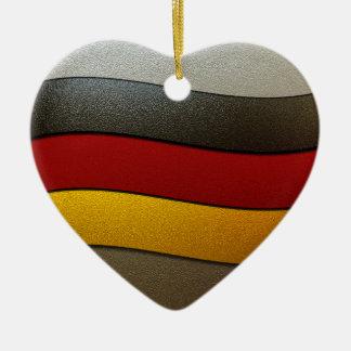 Color-Cromo de la bandera de Alemania Adorno De Cerámica En Forma De Corazón