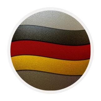 Color-Cromo de la bandera de Alemania Papel De Azúcar Redondo