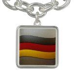 Color-Cromo de la bandera de Alemania Pulseras Con Dijer