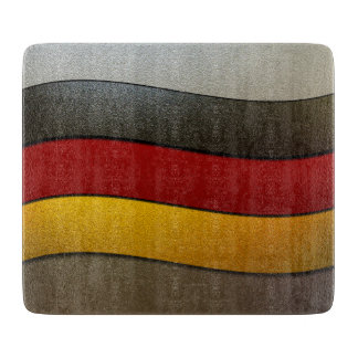 Color-Cromo de la bandera de Alemania Tabla De Cortar
