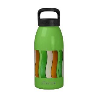 Color-Cromo de la bandera de Irlanda Botella De Beber