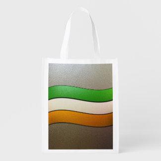 Color-Cromo de la bandera de Irlanda Bolsa Reutilizable