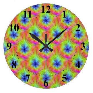 Color Crop Wall Clock