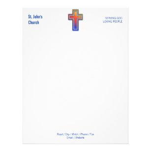 Church letterhead zazzle color cross symbol christian church letterhead spiritdancerdesigns Gallery