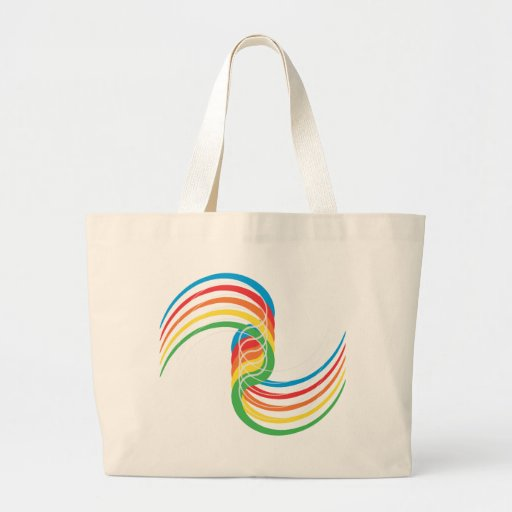 Color Curves: Vector Illustration: Canvas Bags