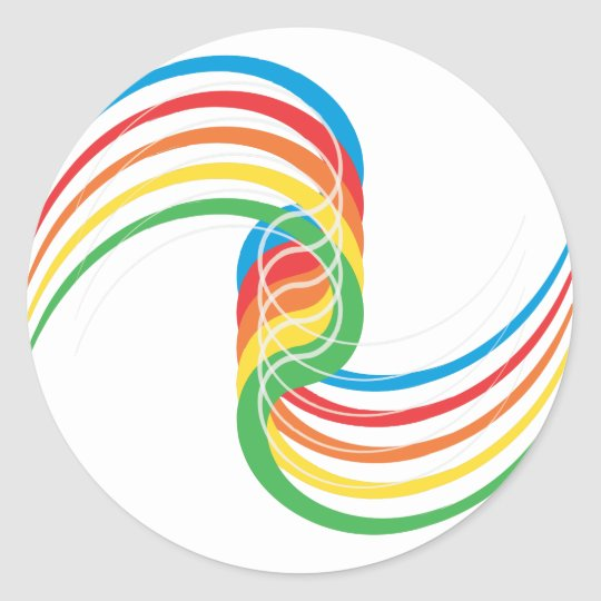 Color Curves: Vector Illustration: Classic Round Sticker