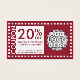 color customizable coupon business card