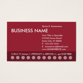 color customizable punch card